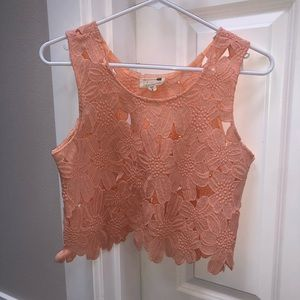 Peach colored crop top